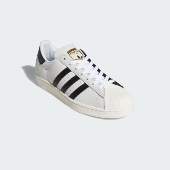 NEW Adidas Superstar White, Black, Gold Men's 6.5